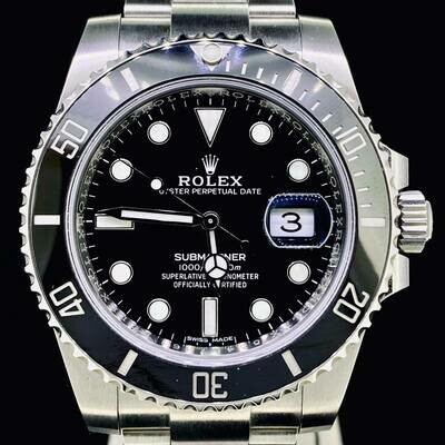 Rolex Submariner Date Discontinued 40MM Steel Black Ceramic B&P Fullset 2020 Unworn