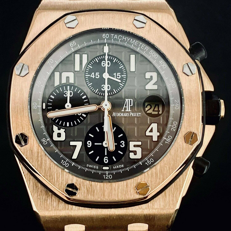 Audemars Piguet Royal Oak Offshore Chronograph 18KT Rose Gold 42MM B&P2010 MINT Condition