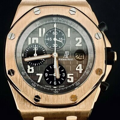 Audemars Piguet Royal Oak Offshore Chronograph 18KT Rose Gold 42MM B&P2010 MINT Condition