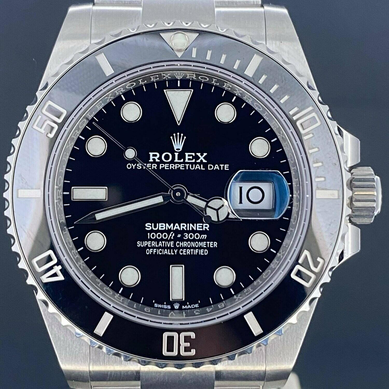 Rolex Submariner Date 41MM Steel Ceramic Bezel New Model Unworn Unpolished B&P2020