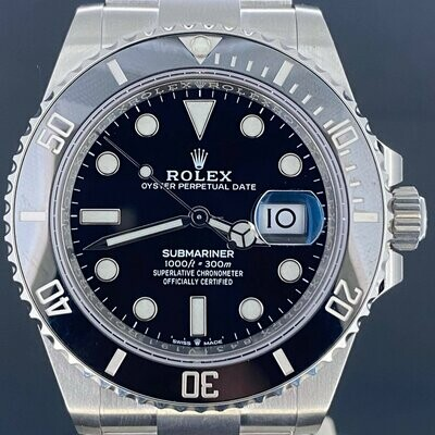 Rolex Submariner Date 41MM Steel Ceramic Bezel New Model Unworn Unpolished B&P2020