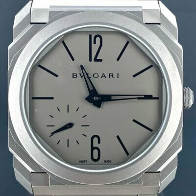 Bulgari Octo Finissimo Titanium Extra Thin 40MM Manual Winding B&P Fullset Unworn Unpolished