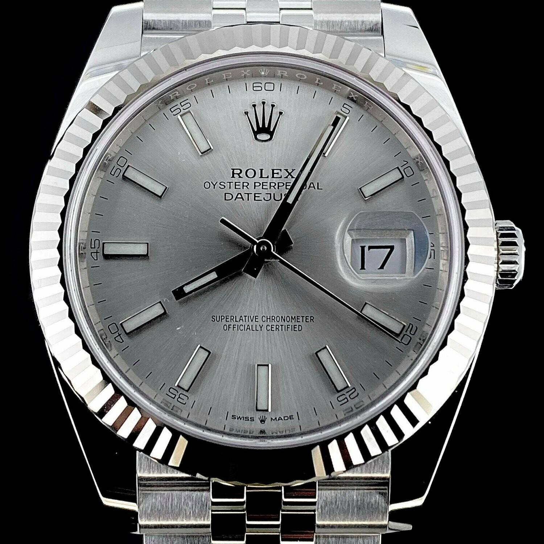 Rolex Datejust II 41MM Steel White Gold Bezel Silver Dial Jubilee Bracelet B&P2020 Unworn Full