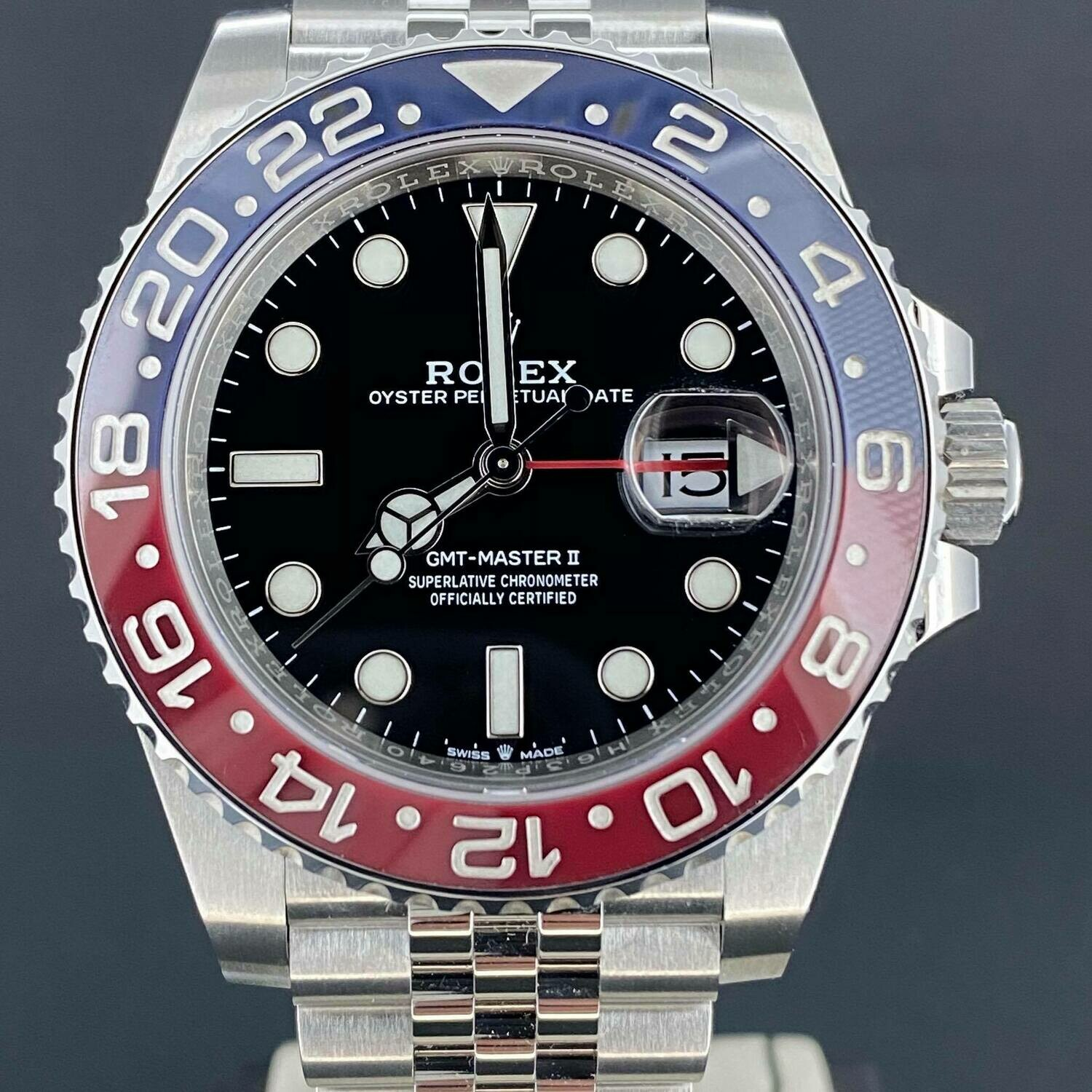 Rolex GMT-Master II 'Pepsi' Jubilee Steel 40MM Red&Black B&P2020 Unworn New Card