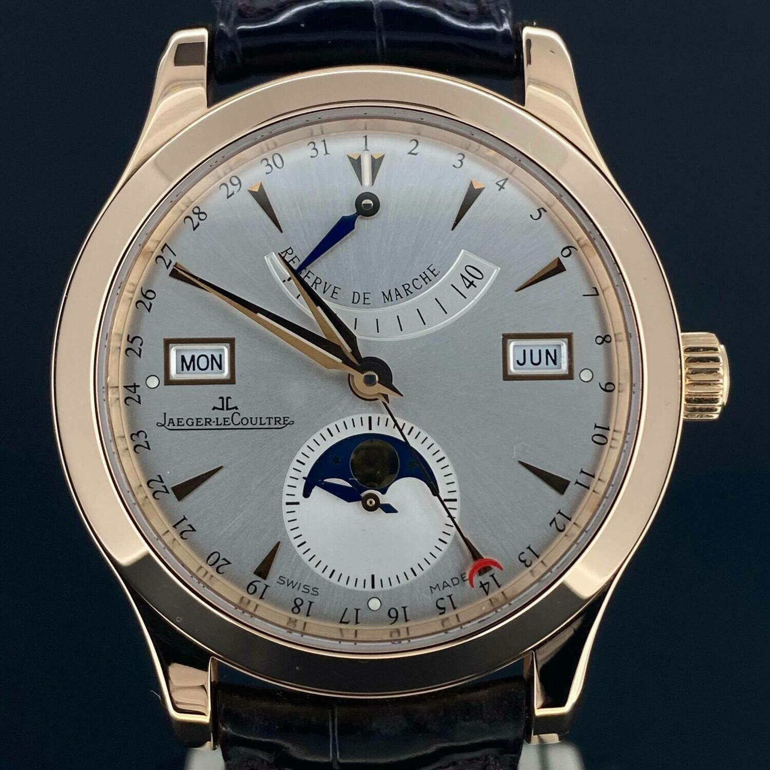 Jaeger-LeCoultre Master Calendar 40MM Rose Gold 18K Moonphase Power Reserve Day/Date/Month BP MINT Like New