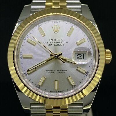 Rolex Datejust II 41MM Steel/Gold Silver Dial Jubilee Bracelet UNWORN B&P2020 (Newest Rolex Card