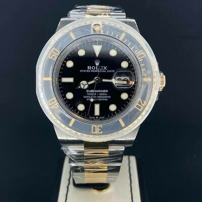 Rolex Submariner Date Black Dial 41MM New Model 18K Yellow Gold/Steel B&P2020 Unworn/New Card