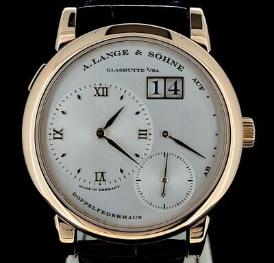 A. Lange & Söhne Lange 1 Silver Dial / 18K Rose Gold 38,5MM Manual Wind Fullset B&P1999 Near New Condition