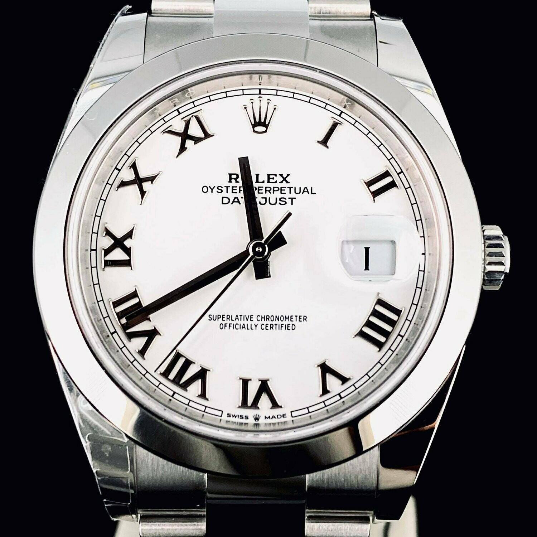 Rolex Datejust II 41MM Steel White Roman Dial Oyster Bracelet UNWORN B&P 2020