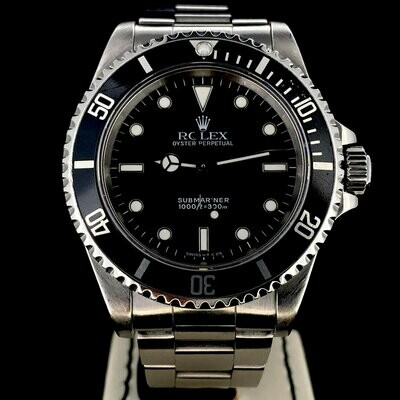 Rolex Submariner No Date 40MM Black Dial Steel Good Condition Two Liner