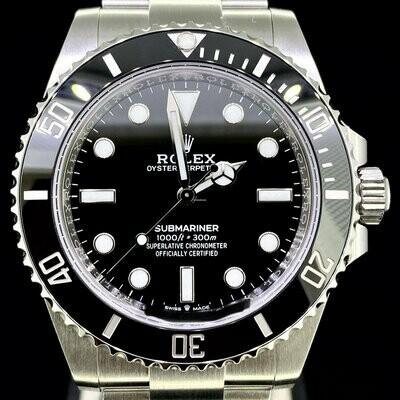 Rolex Submariner 41MM No Date Black Cerachrom Steel Watch New Card Novelty Model 2020 B&P Unworn