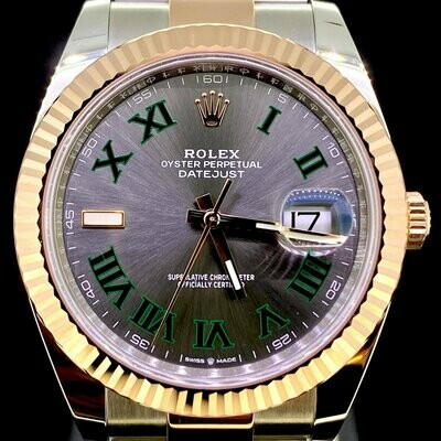 Rolex Datejust II 41MM Rose Gold/Steel Grey Wimbledon Dial Oyster Bracelet B&P2020 Unworn