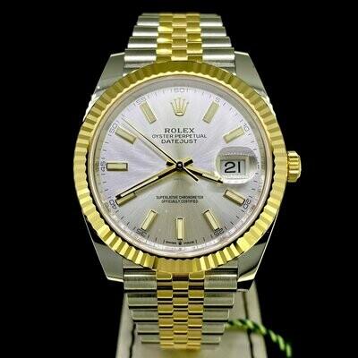 Rolex Datejust II 41MM Steel/Gold Silver Dial Jubilee Bracelet UNWORN B&P2020 (Newest Rolex Card)