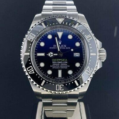 Rolex Sea-Dweller Deepsea DeepBlue James Cameron Blue Dial Steel 44MM UNPOLISHED Like New BP2016