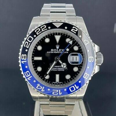 "Rolex GMT-Master II ""Batman"" Steel Ceramic Blue & Black Oyster Bracelet."