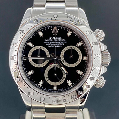 Rolex Daytona Chronograph 40MM Black Dial Steel 'D Series 2006' Box Only Mint Condition