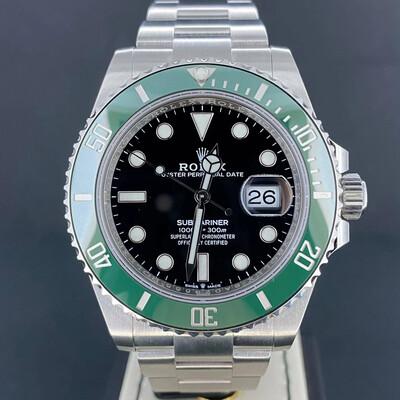 "Rolex Submariner Date 41MM Novelty ""Starbucks"" Green Bezel Black Dial Steel B&P 03/2021 Unworn"