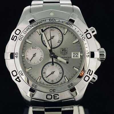 TAG Heuer Aquaracer 300M Chronograph Steel 41MM Automatic Date B&P