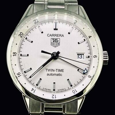 TAG Heuer Carrera WV2116-0 Twin-Time GMT Full Steel Mint
