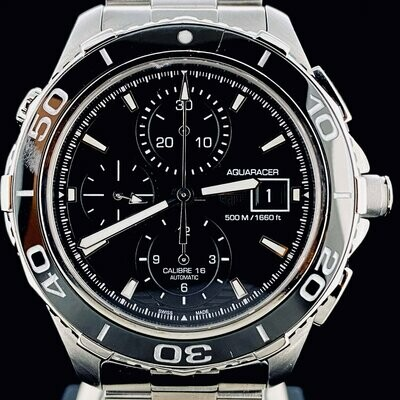 TAG Heuer Aquaracer 500M Chronograph 43MM Steel Black Ceramic Automat