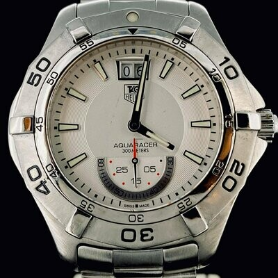 TAG Heuer Aquaracer 300M Steel Grande Date 41MM Quartz Small Seconds
