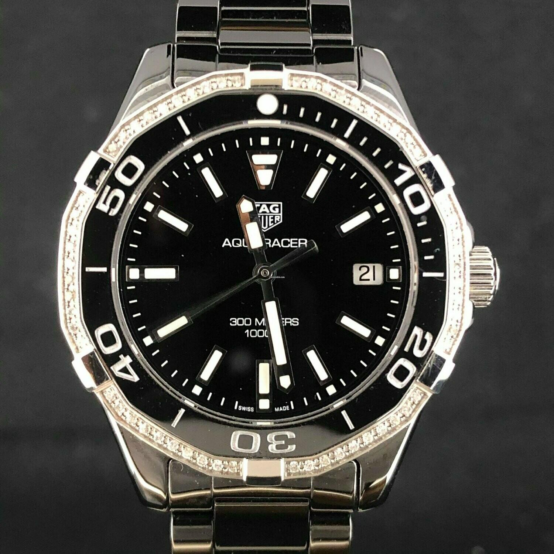 TAG Heuer Aquaracer 300M Lady Black Ceramic, Diamonds, 35MM Quartz NEW