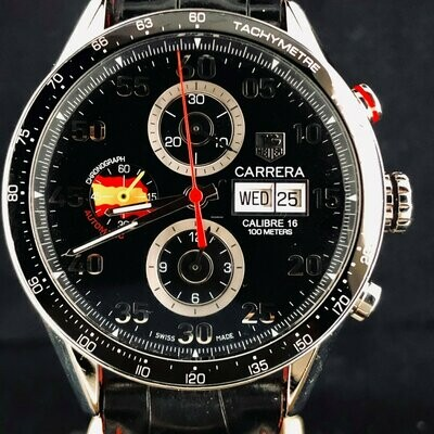 TAG Heuer Carrera Calibre 16 Chronograph Spain LTD250pcs 43MM Day Date