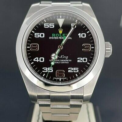 Rolex Air-King 40MM Steel Black & Green Dial B&P2018 Like New.