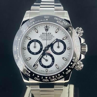 Rolex Daytona Chronograph 40MM Ceramic White Dial Steel B&P2017 Mint Condition