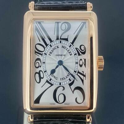 Franck Muller Long Island 30MM 18K Rose Gold White/Silver Dial B&P2006 Mint Condition