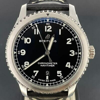 Breitling Navitimer 8 Steel Black Dial Automatic Stainless Steel B&P2019 New Like Condition