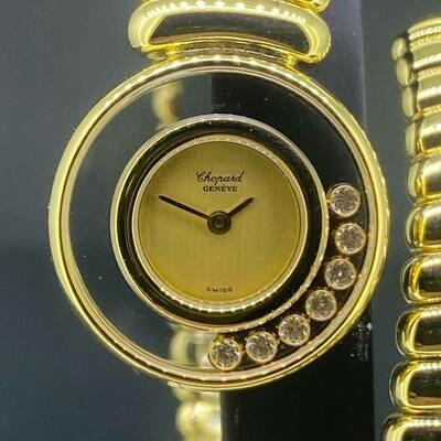 Chopard Happy Diamonds , Factory set 18k Yellow Gold Mint