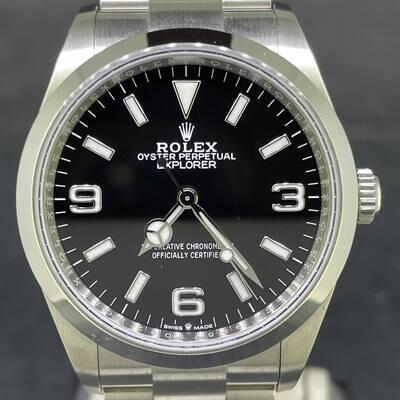 Rolex Explorer 36MM Steel Novelty Black Dial B&P2021 NEW Unworn Fullset