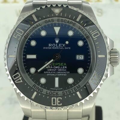 Rolex Sea-Dweller Deepsea 44MM Steel DeepBlue Dial Steel B&P2017 Unpolished