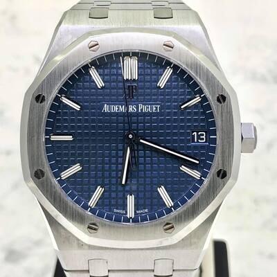 Audemars Piguet Royal Oak 41MM Steel Blue Boutique Dial B&P2021 Mint Condition Unpolished