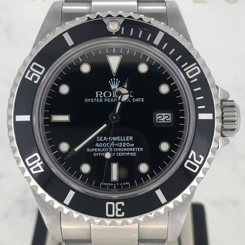 Rolex Sea-Dweller 40MM Steel Watch Black Dial/Bezel Oyster Bracelet Box Only Like NEW Condition