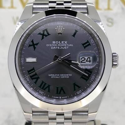 Rolex Datejust 41MM Steel Grey Wimbledon Dial Jubilee Bracelet BP2021 Unworn NEW