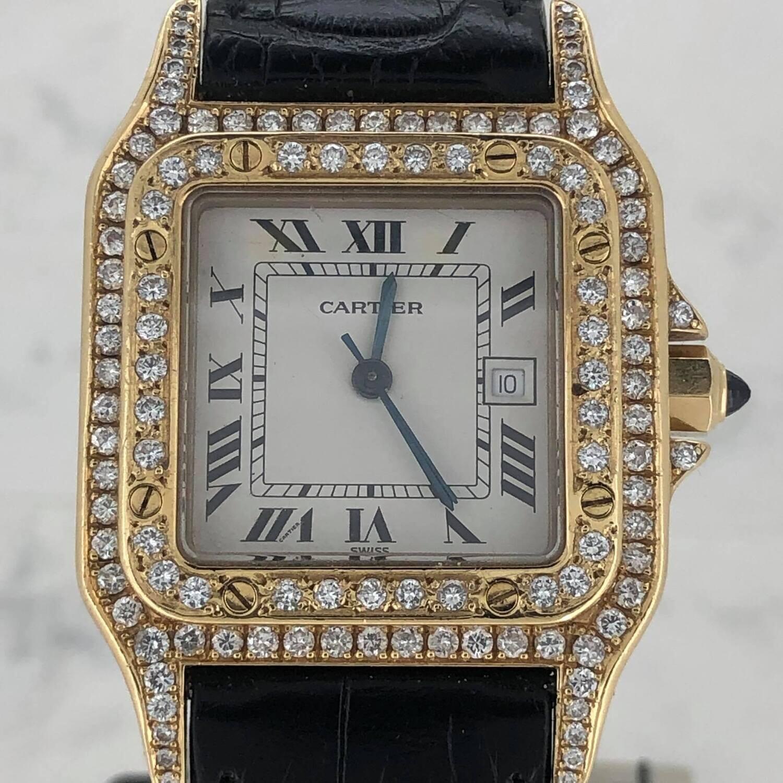 Cartier Santos Galbée 18k Yello Gold After Markt Diamond