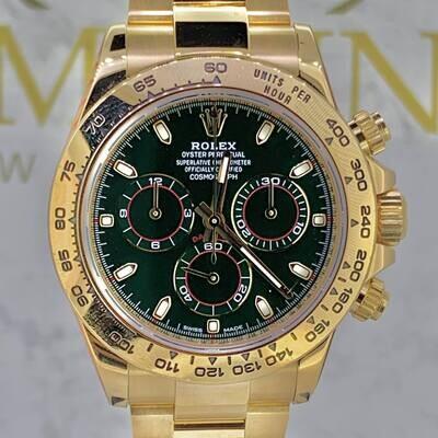 Rolex Daytona Yellow Gold Green Dial Dec/2019 116508