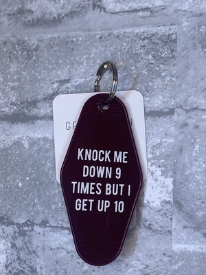 Knock Me Down 9 Times Keychain