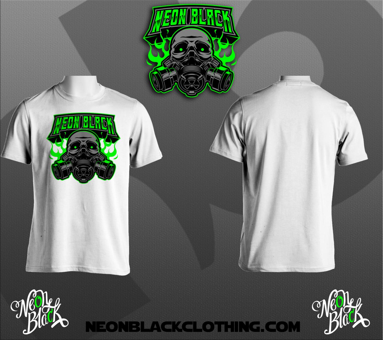 Neon Black Org Tee
