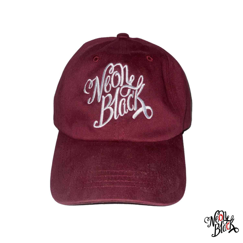 Burgundy - Script Dad Hat