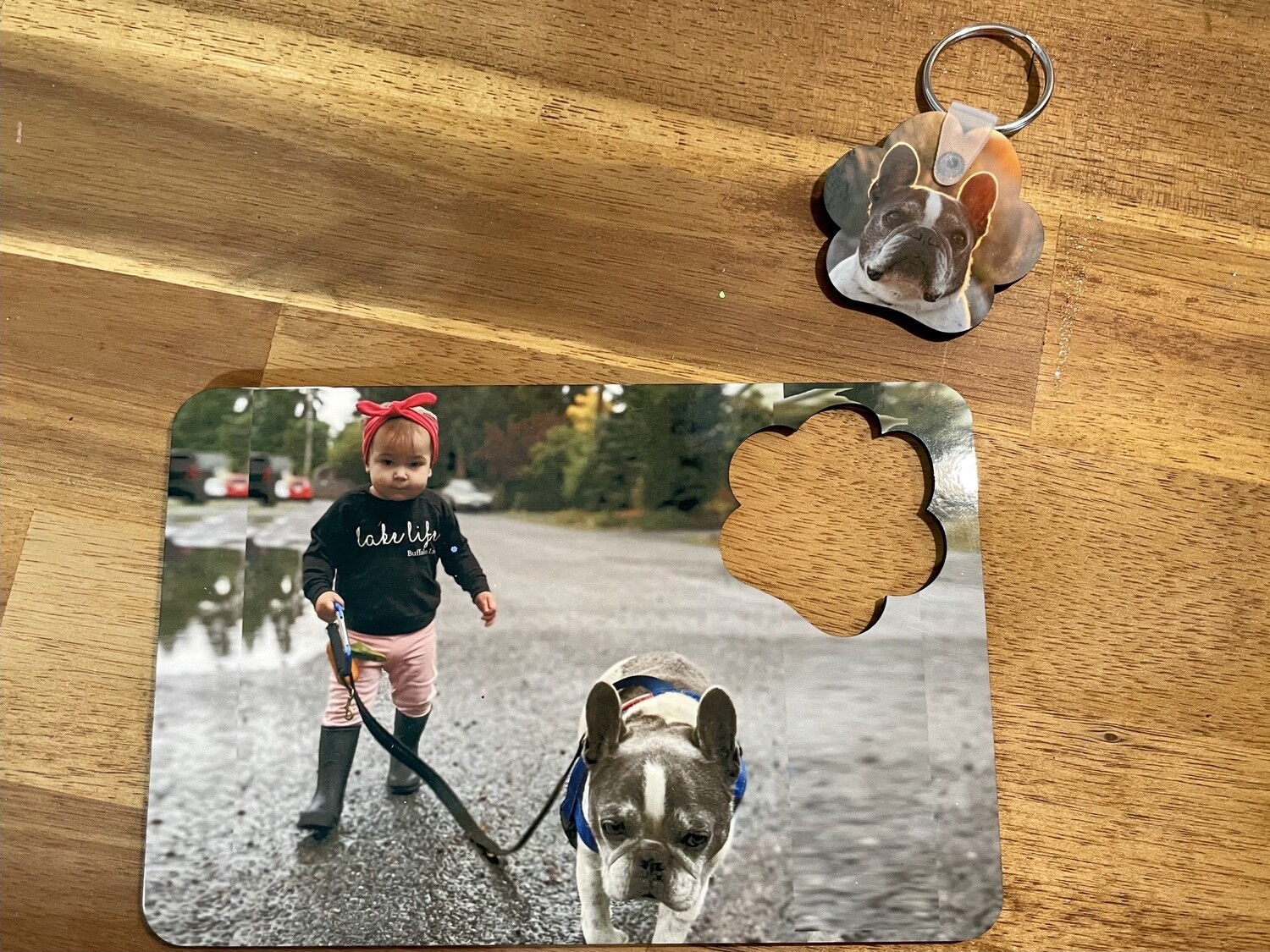 Post card and key chain