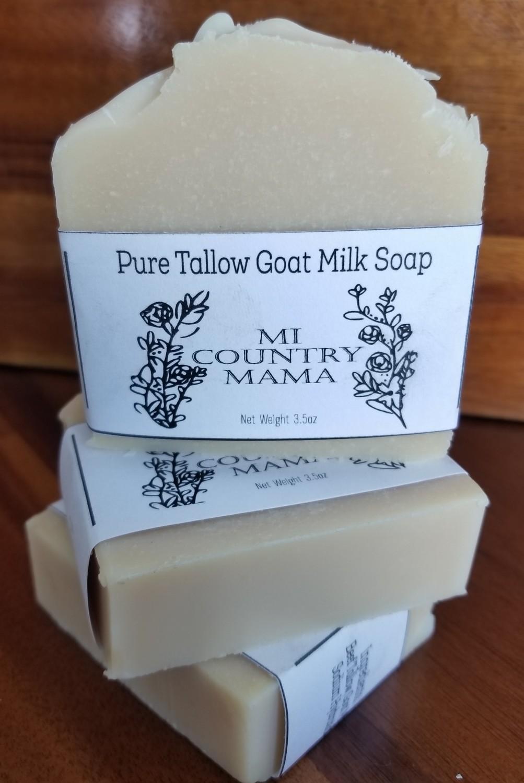 Pure Tallow Goat Milk Soap 3oz