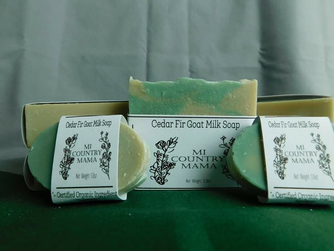 Cedar Fir Goat Milk Soap 1oz