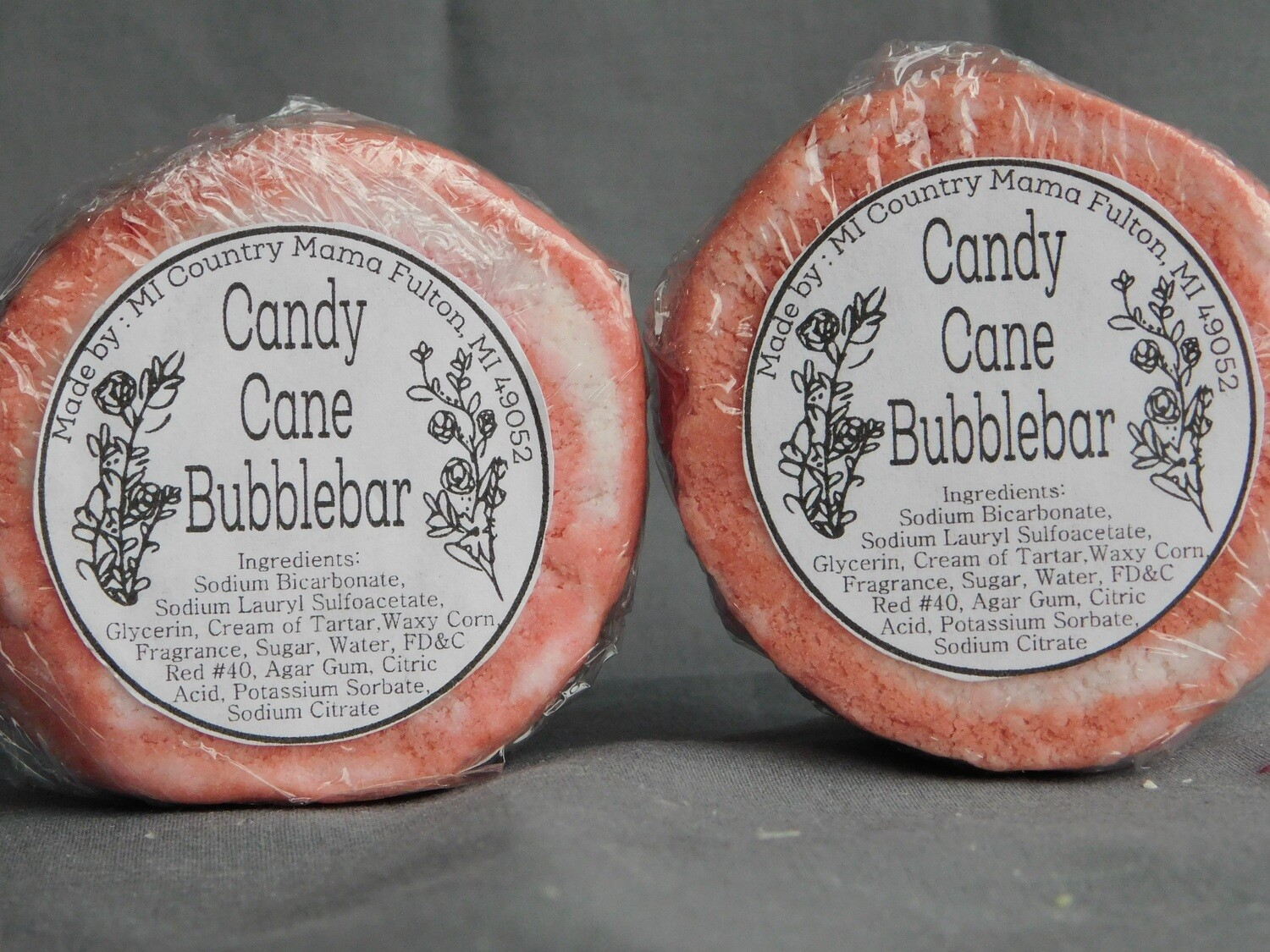 "Candy Cane ""Peppermint"" Bubble Bar"