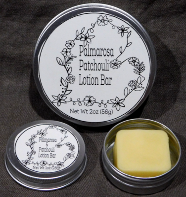 Palmarosa Patchouli Lotion Bar