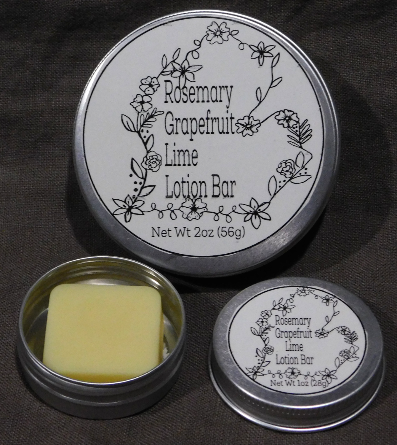 Rosemary Grapefruit Lime Lotion Bars