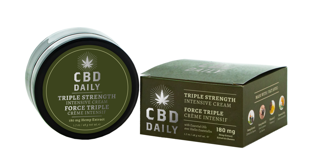 ** CBD Daily Triple Strength Intensive Cream 180mgs