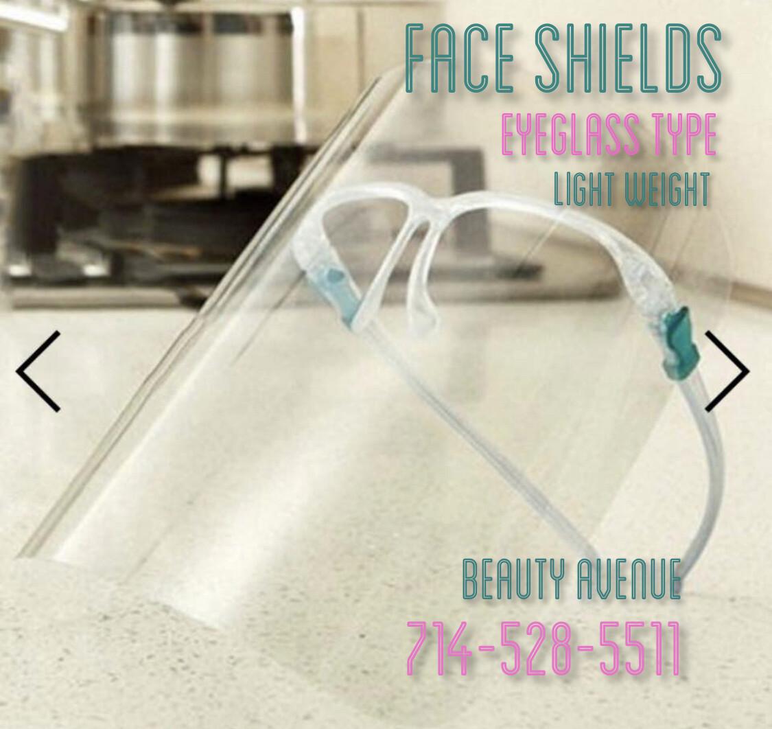 Light Weight Face Shields (Eyeglass Style)